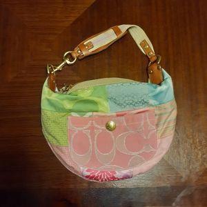 Coach Hampton's Pastel Scribble zip boho bag